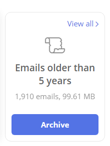 The Archive button does not work