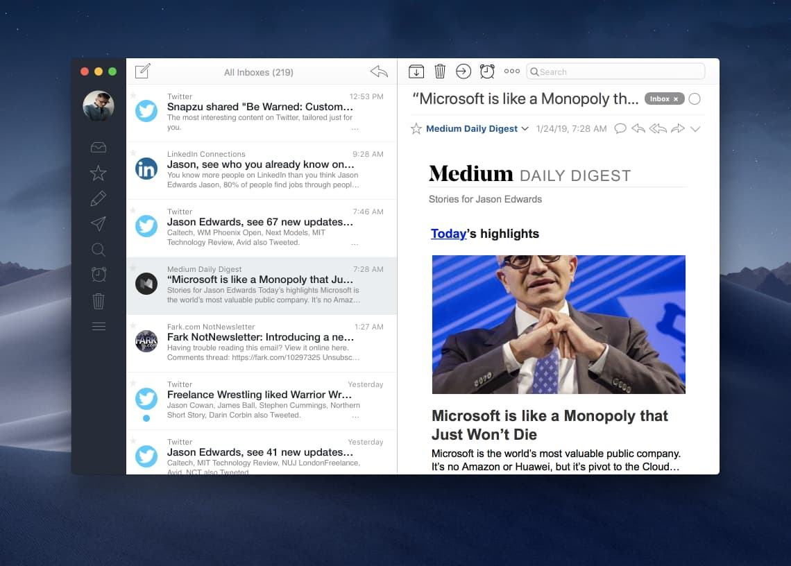 Airmail best email app for Mac