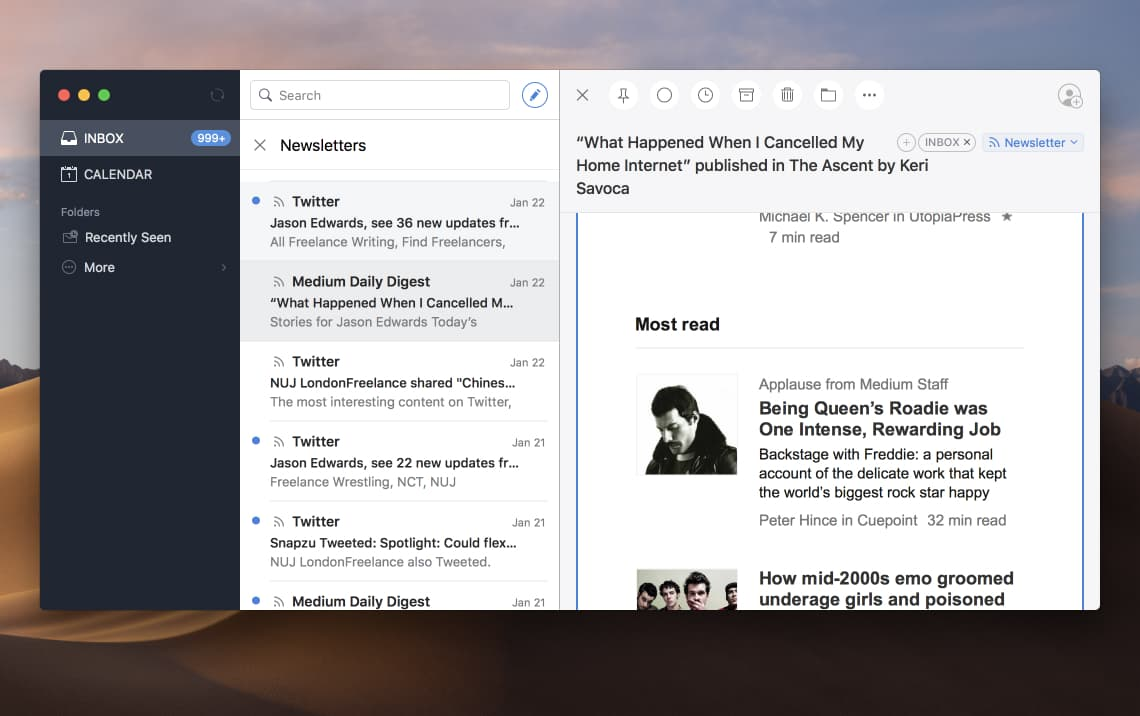 Spark best free email app for Mac