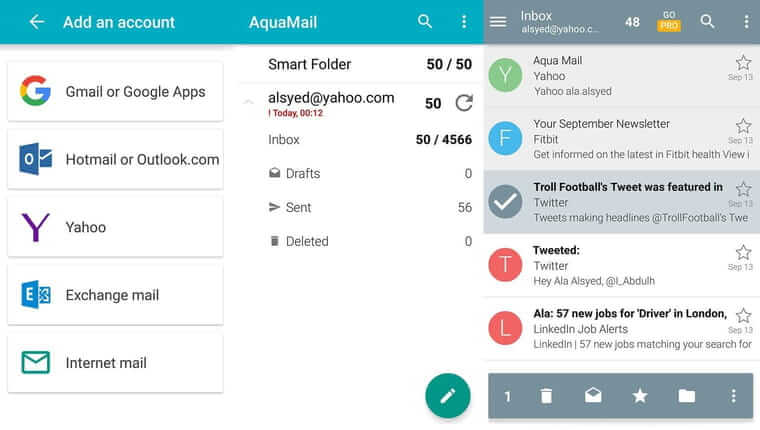 Aqua Mail best email app 2019