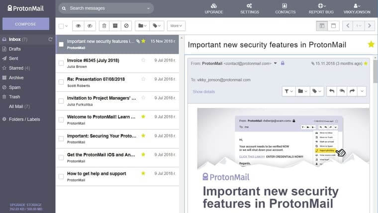 ProtonMail best email app in 2019