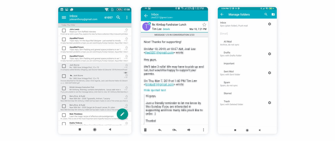 Aqua Mail Android best email app