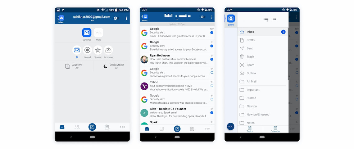 Blue Mail Android best email app