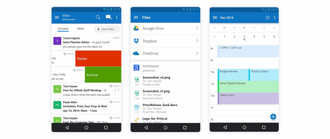 Outlook email app for Android