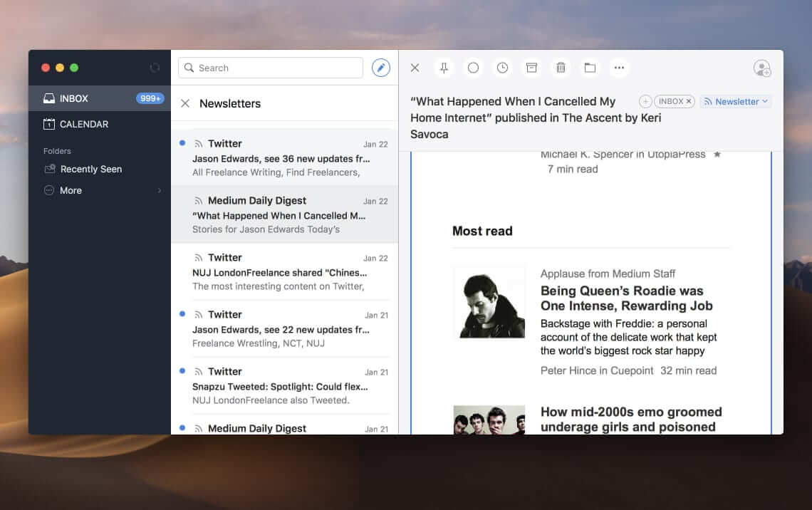 Spark email client for Mac users