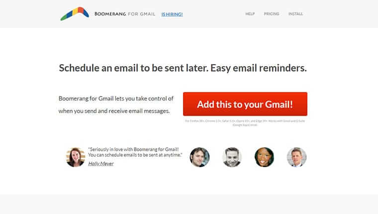 Boomerang best Gmail add-on to boost productivity