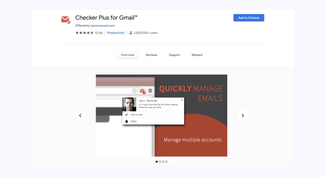 Checker Plus for Gmail add-on for business