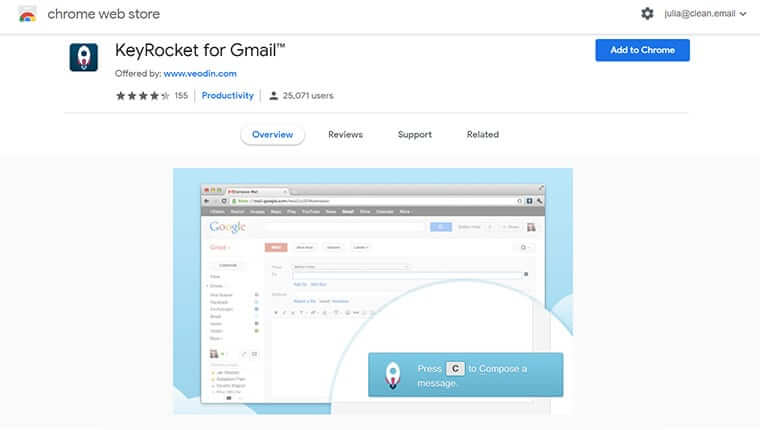KeyRocket best Gmail add-on for your business