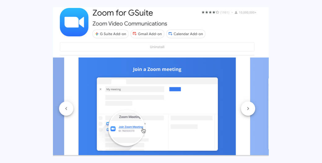 Zoom for Gmail video conferencing add-on