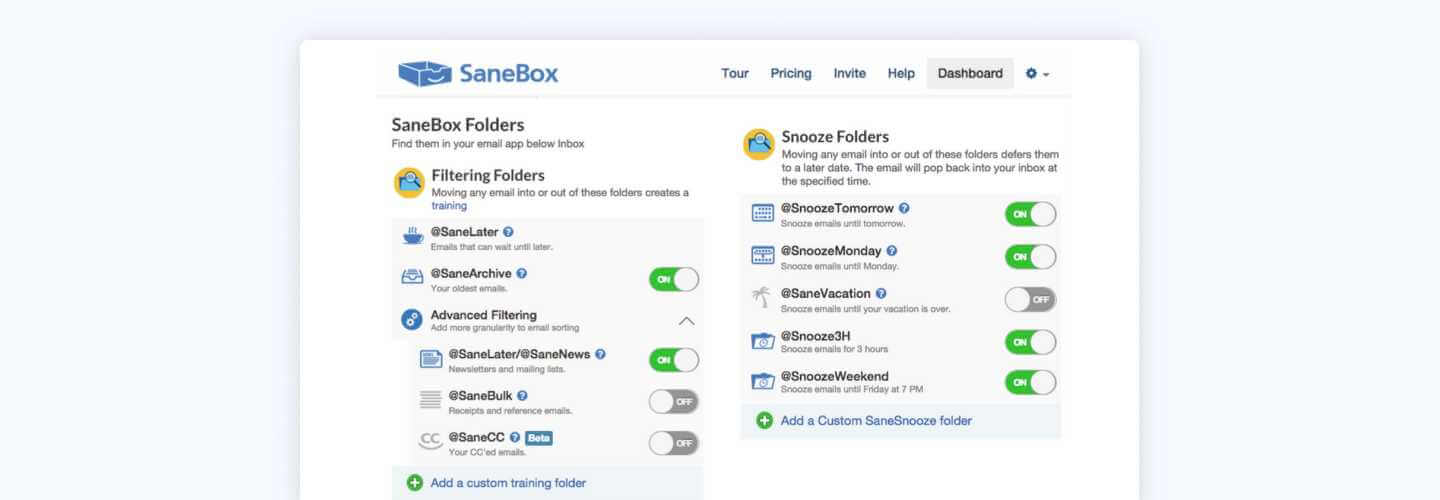 Clean Email best app alternative of Sanebox