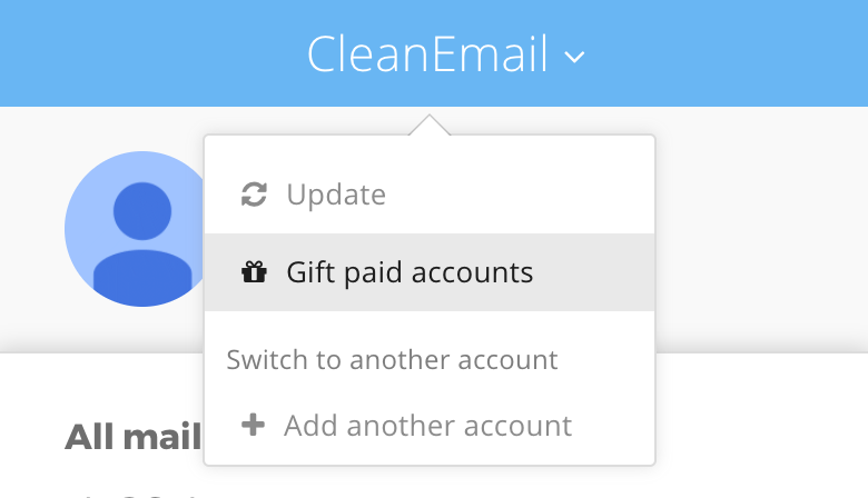 Gift your paid account to others